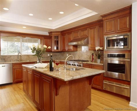 wood kitchen ideas pictures of kitchens traditional medium wood cabinets
