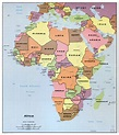 Large detailed political map of Africa with all capitals ...