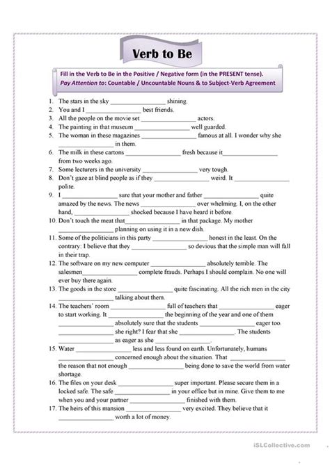verb to be for advanced students worksheet free esl printable worksheets made by teachers