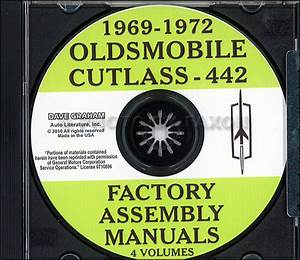 1969 Oldsmobile Repair Shop Manual Original 442  Cutlass  88