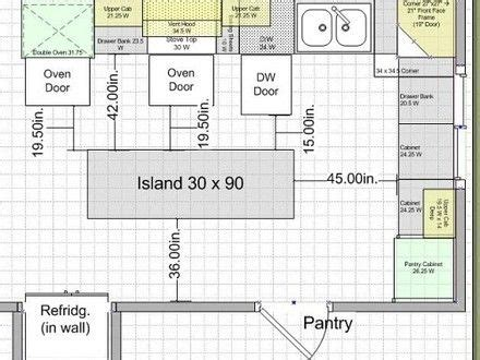 kitchen island width kitchen island clearance dimensions arquitectura