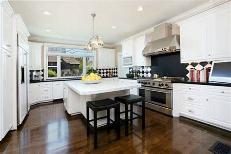 country white kitchens the black and white magic design 2968