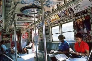 1980s Graffiti Subway Train New York