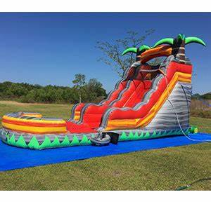 Happy Kids Inflatables – Lava Rush Inflatable Wet Slide ...