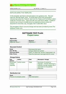 02 software test plan template With software testing document template