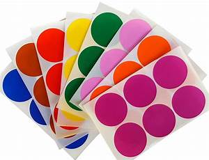 circular colored coding stickers 2quot assorted colors round With colored circle labels