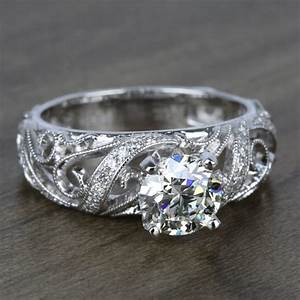 climbing milgrain diamond engagement ring in white gold by With wedding rings for rock climbers