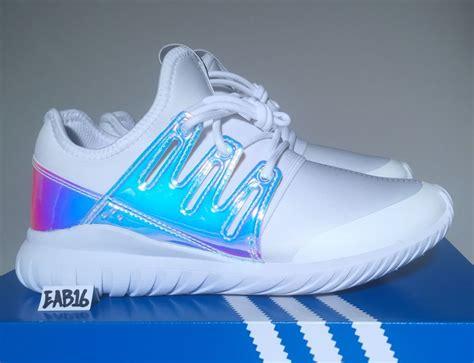 Adidas Tubular Radial K Iridescent Hologram Gs Aq6281 Boys