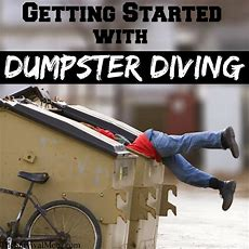 Getting Started Dumpster Diving  Survival Mom