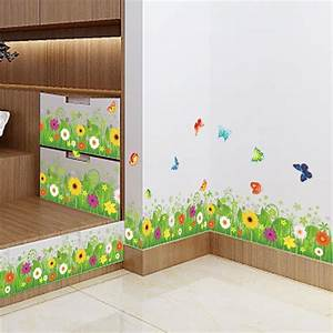 Aliexpresscom buy colorful flowers butterflies fences for Best brand of paint for kitchen cabinets with wall art butterflies and flowers
