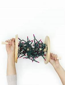 Learn, How, To, Make, Your, Own, Diy, Wooden, Christmas, Lights, Spool, Using, 8