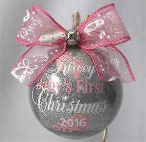baby s first christmas ornament personalized with any year