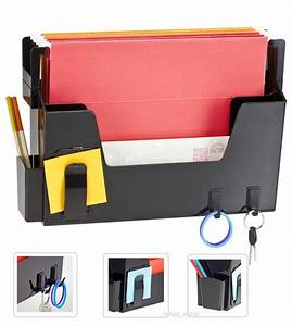 wall file folder organizer document letter memo holder key With hanging document holder