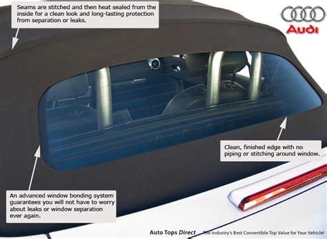 audi tt   convertible top glass window euro green