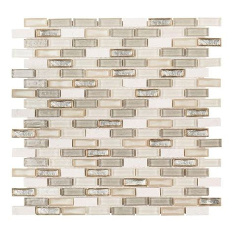 Jeffrey Court Mosaic Tile Home Depot by Jeffrey Court Afternoon Tea 11 1 2 In X 11 5 8 In X 6 Mm