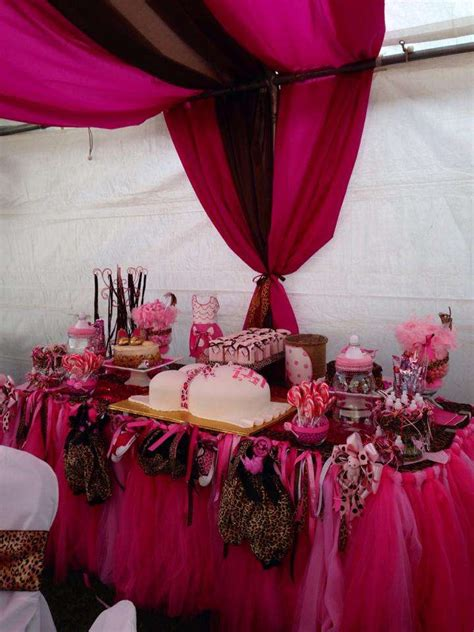 pinkcheetah baby shower party ideas photo