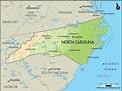 Geographical Map of North Carolina and North Carolina ...