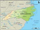 Geographical Map of North Carolina and North Carolina ...