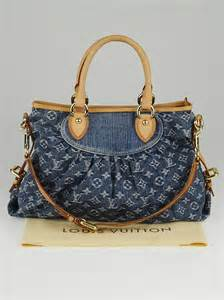 louis vuitton blue denim monogram denim neo cabby mm bag yoogis closet