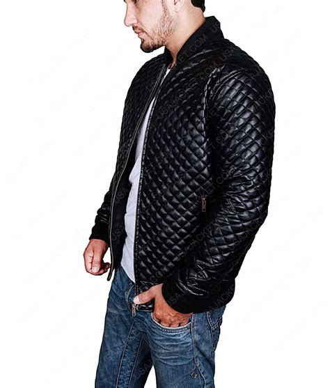 mens quilted bomber jacket quilted style mens black leather bomber jacket click to buy