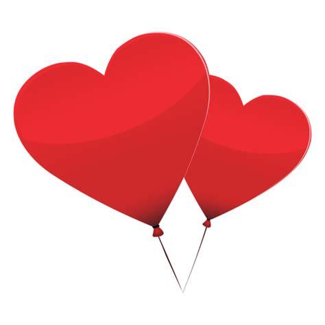 Ilustración de corazón de par de globos Descargar PNG