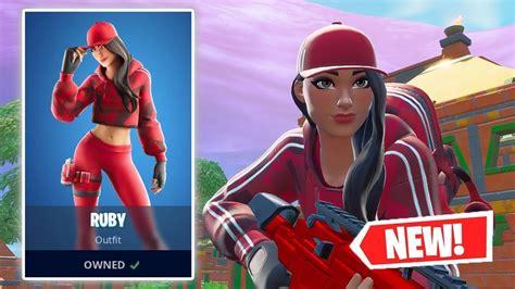New Ruby Skin Gameplay In Fortnite Youtube