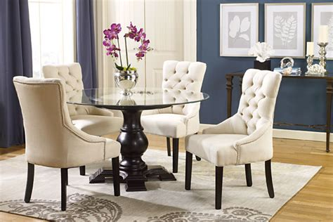 tufted chairs   dining room