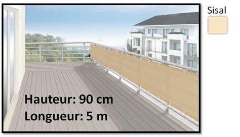 Brise vue en toile pour balcons beige sisal 90x500 - Ilya2too