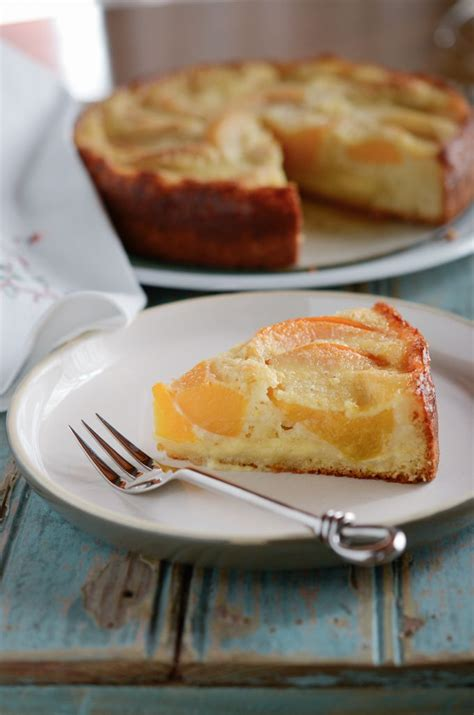 Peach Kuchen German Cake With Canned Peaches