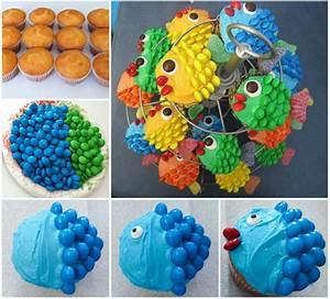 Wonderful DIY Easy Cute Fish Cupcakes