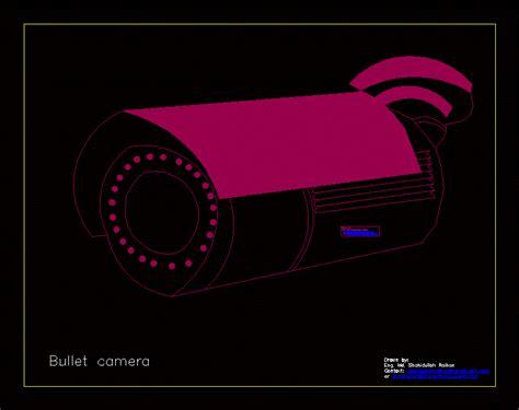 Bullet Camera Dwg Block For Autocad