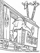 Coloring Train Circus Disney Cartoon Enjoycoloring Dumbo sketch template