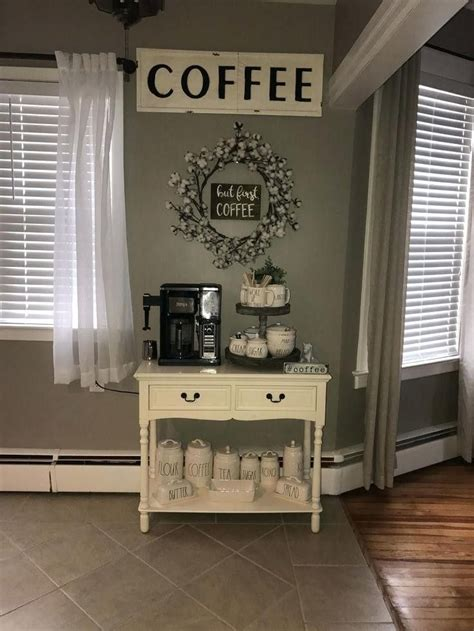 This is my favorite coffee bar idea. Image result for small space coffee bar ideas   Coffee bar home