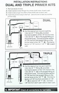 Mikuni Triple Carb Primer Kit Snowmobile Ski Doo Polaris