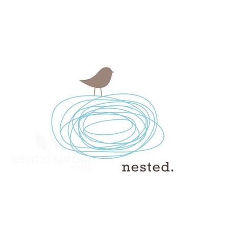 reserved logo design pre made bird nest sold only once