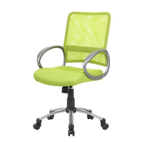 office mesh back task chair in lime green b6416 lg