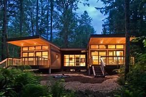 les maisons modulaires les habitations modernes en With maison en pleine nature