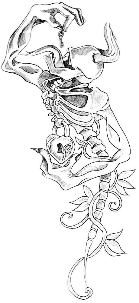 31 best Heart Lock Key Tattoo Design Outline images on
