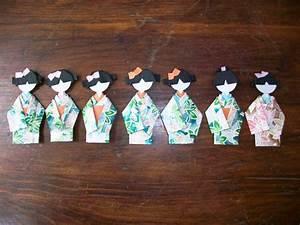 Origami Geisha Dolls By Stampingooddeeds