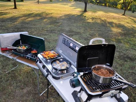 4 New Portable Stove/grills For Camping And Tailgating How To Install Gas Stove From Electric Coleman Propane Repair Kit Fuel White King Pellet Tractor Supply Quadrafire Door Gasket Replacement Make A Ribeye Steak On The Wood Burning Worcester Bosch Frigidaire Top Burner Not Working