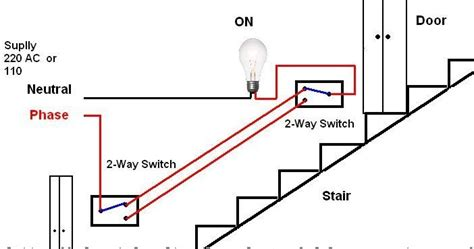 Electrical Technology Stair Case Wiring Diagram