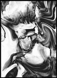 Print Black and White Marble