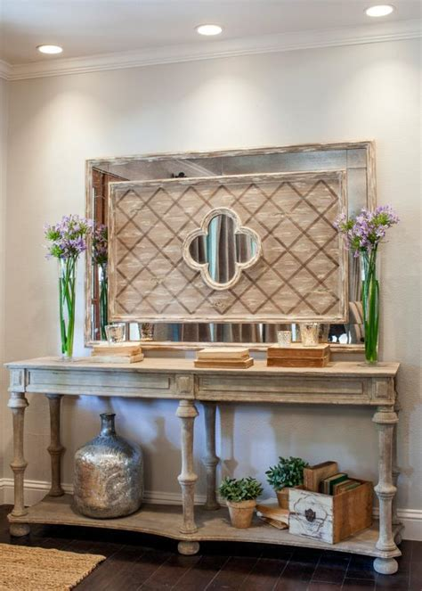 french country entryway table fixer upper remodeled french country style entryway hgtv