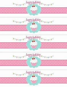 Cupcake birthday party with free printables pinterest for Cake labels template