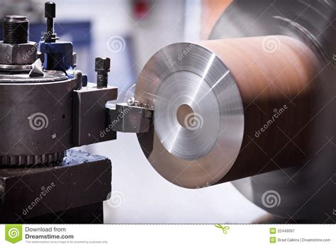lathe cutting metal royalty  stock photography image