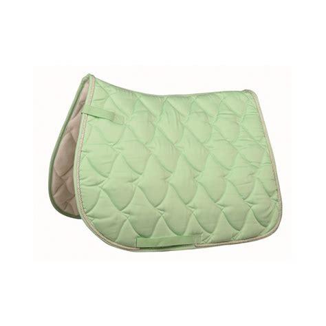 tapis cheval vert pomme tapis cheval vert pastel selle mixte ou dressage pas cher