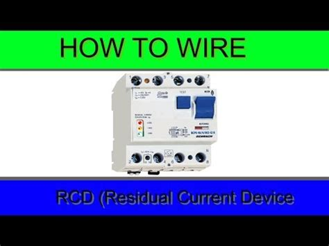 how to wire rcbo in consumer unit uk rcbo wiring doovi