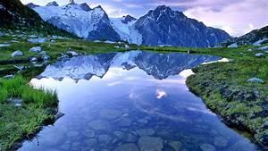 Beautiful, Lake, And, Mountain, Landscape, Wallpapers, Hd