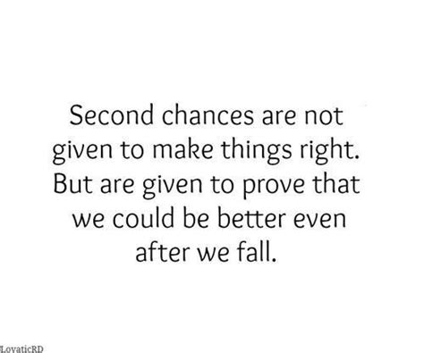 Second Chances Quotes Second Chances Points To Ponder Truths