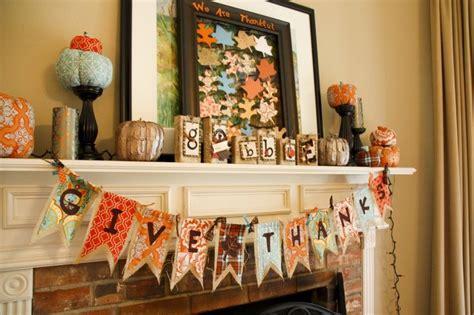 thanksgiving mantelpiece decorations